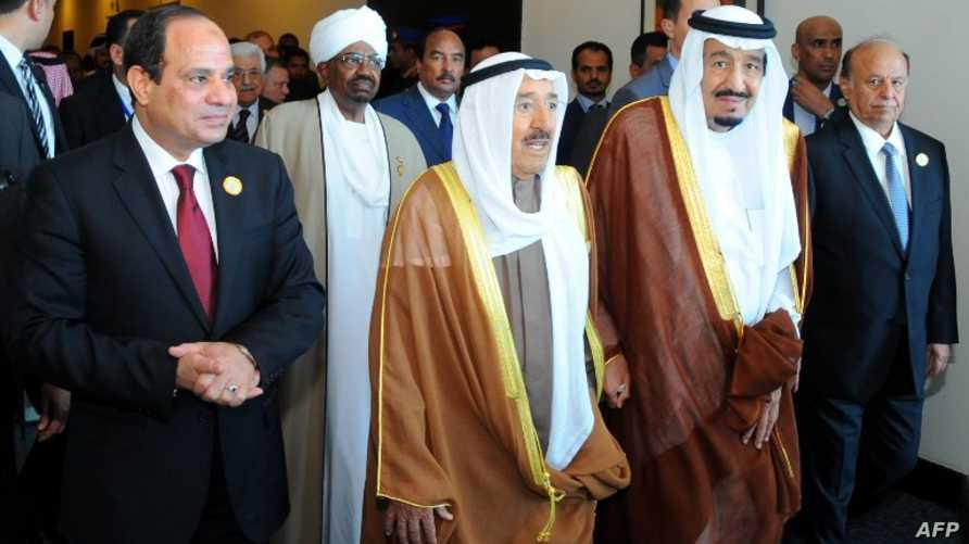 قادة دول عربية يصلون إلى شرم الشيخ للمشاركة في القمة العربية