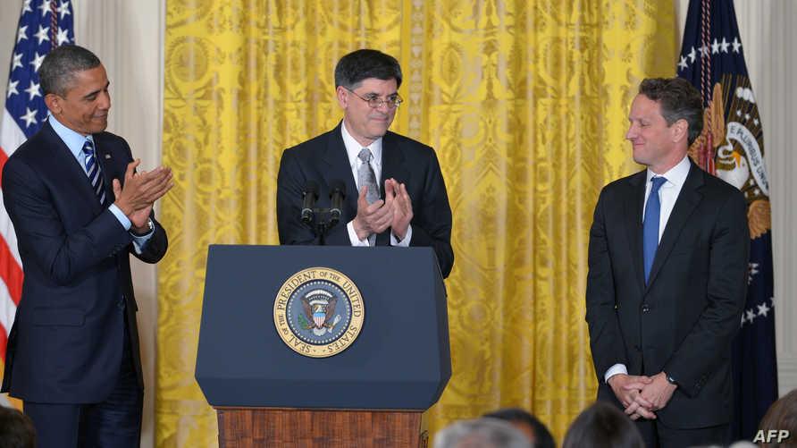 الرئيس أوباما مع غايتنر ولو