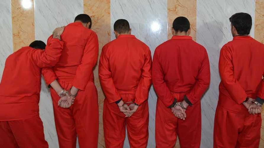 صورة نشرتها وزارة العدل العراقية لمدانين أعدمتهم بتهمة الإرهاب