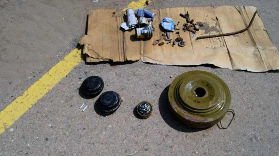 ألغام أرضية محظورة- صورة من موقع هيومن رايتس ووتش