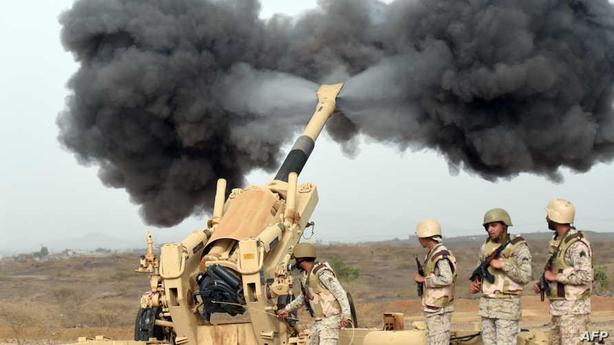 جنود سعوديون على الحدود مع اليمن - أرشيف