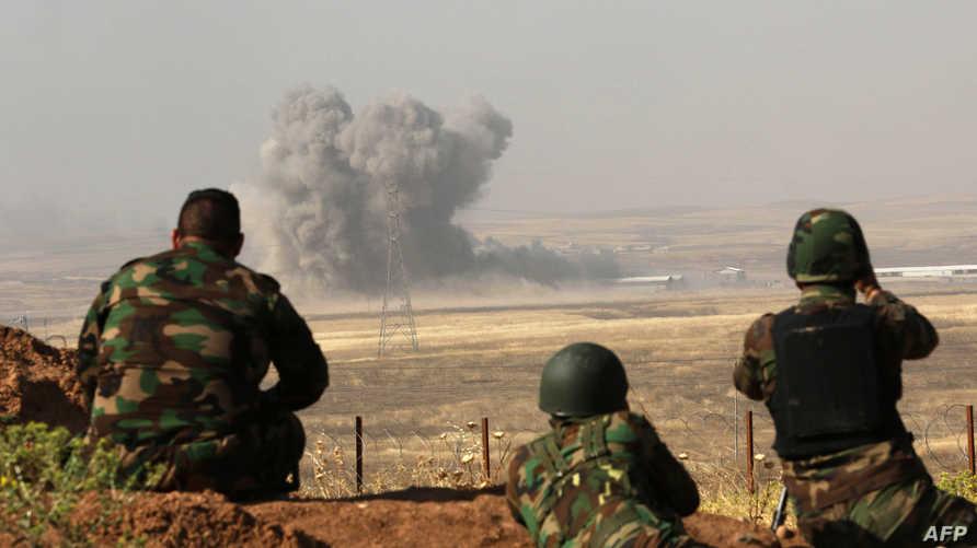 قوات من البيشمركة قرب الموصل