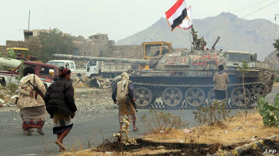 قوات حكومية يمنية في تعز