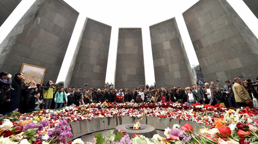 النصب التذكاري لضحايا المجازر في حق الأرمن بالعاصمة يرفان