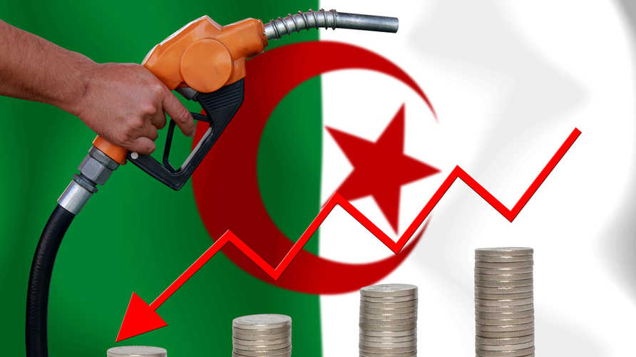 الجزائر تفقد نصف مداخيلها من تصدير المحروقات