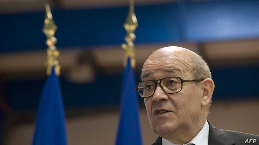 وزير الدفاع الفرنسي جان إيف لودريان (أرشيف)