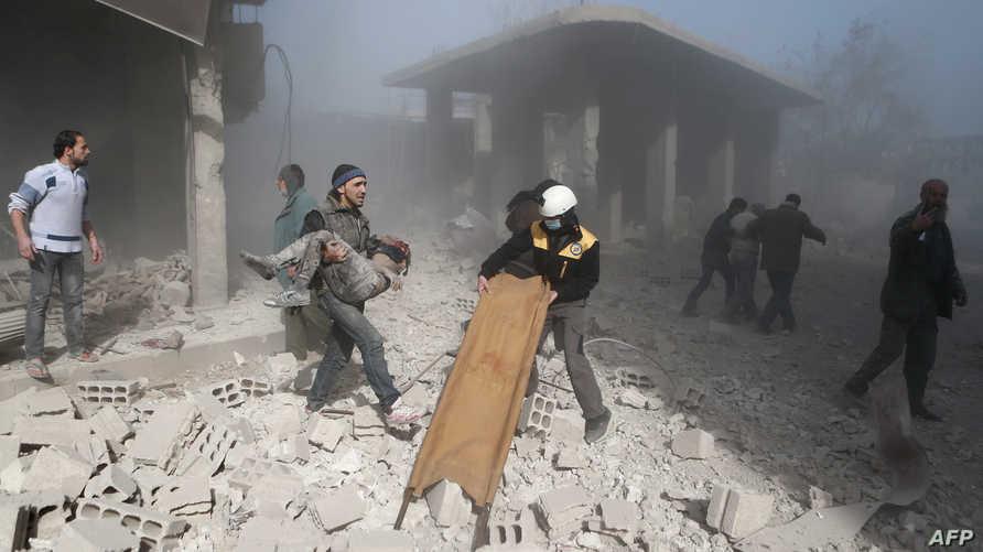مخلفات القصف على الغوطة الشرقية