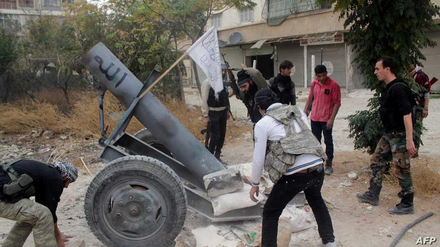 عناصر من المعارضة السورية في حلب-أرشيف