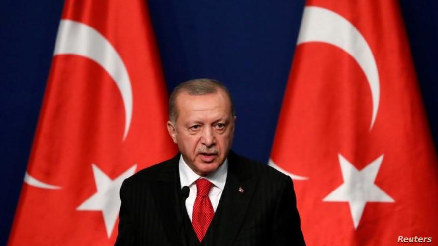 أردوغان أطلق عملية لملاحقة الأكراد شمال شرقي سوريا