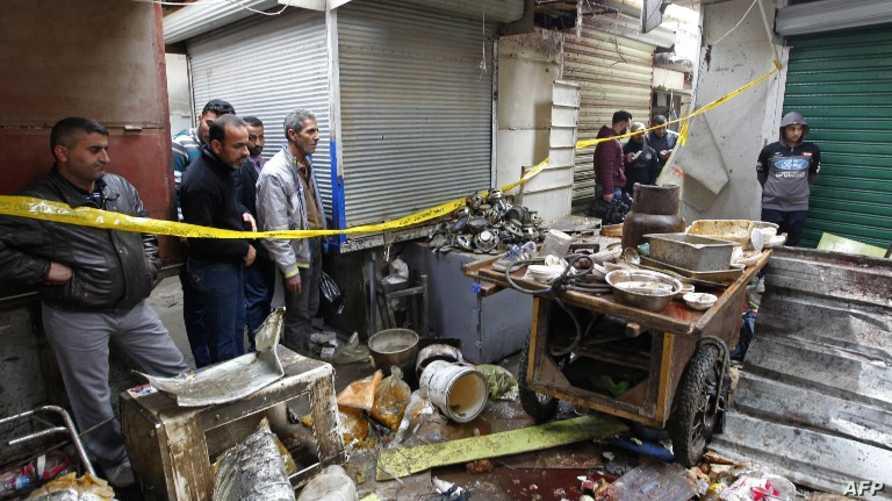تفجير سابق بالعاصمة العراقية