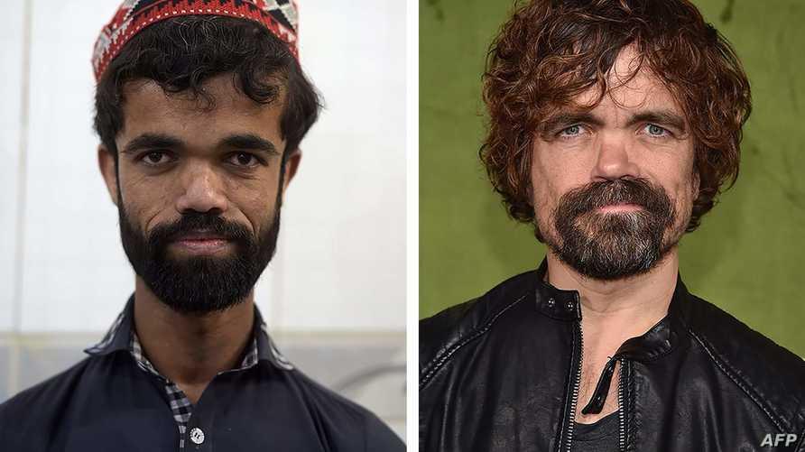 النادل الباكستاني روزي خان والممثل بيتر دينكليدج