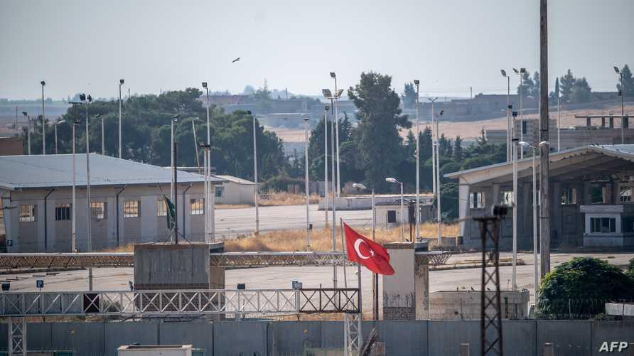 الحدود التركية السورية جنوب شرقي تركيا في صورة التقطت بتاريخ 8 أكتوبر 2019