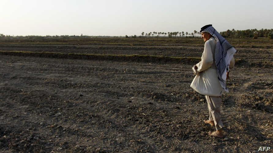 حقل عراقي أصابه الجفاف