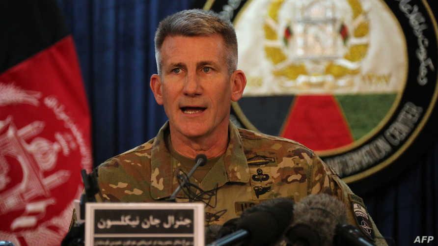 قائد القوات الأميركية في حلف شمال الأطلسي (ناتو) في أفغانستان الجنرال جون نيكولسون