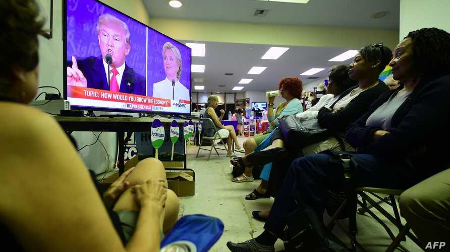 جانب من المناظرة الثالثة التي جمعت المرشحين