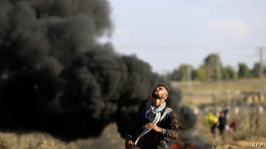 مواجهات بين فلسطينيين والجيش الاسرائيلي في غزة