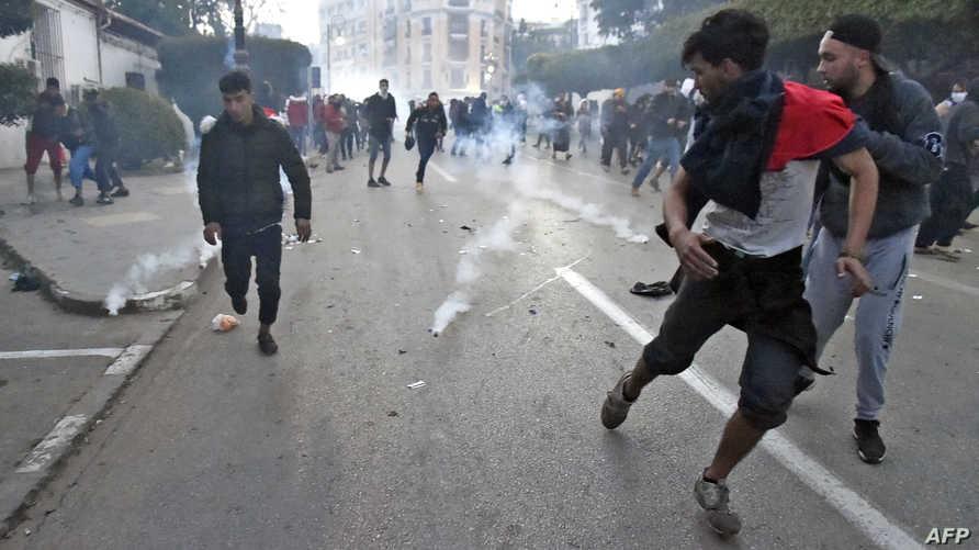 جانب من احتجاج ضد ترشح بوتفليقة لولاية خامسة