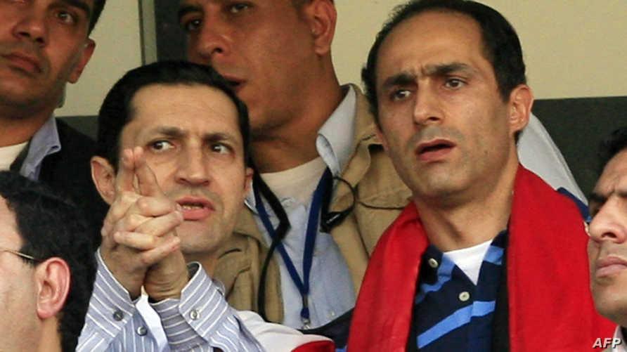 نجلا الرئيس المصري الأسبق حسني مبارك، جمال وعلاء - أرشيف