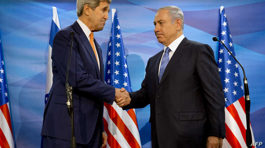 نتانياهو وكيري خلال زيارة الأخير للقدس الثلاثاء