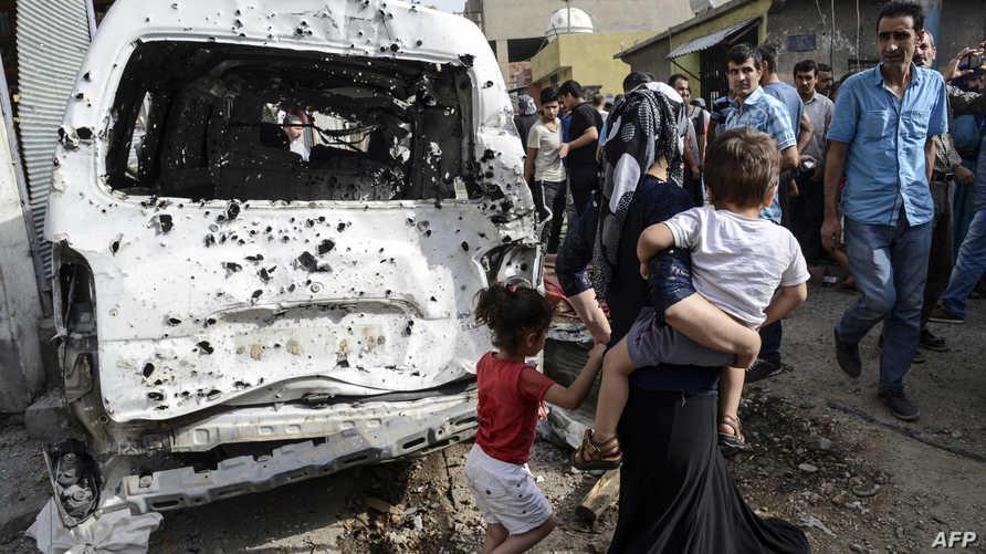مخلفات اشتباكات سابقة بين الجيش التركي ومسلحي حزب العمال الكردستاني
