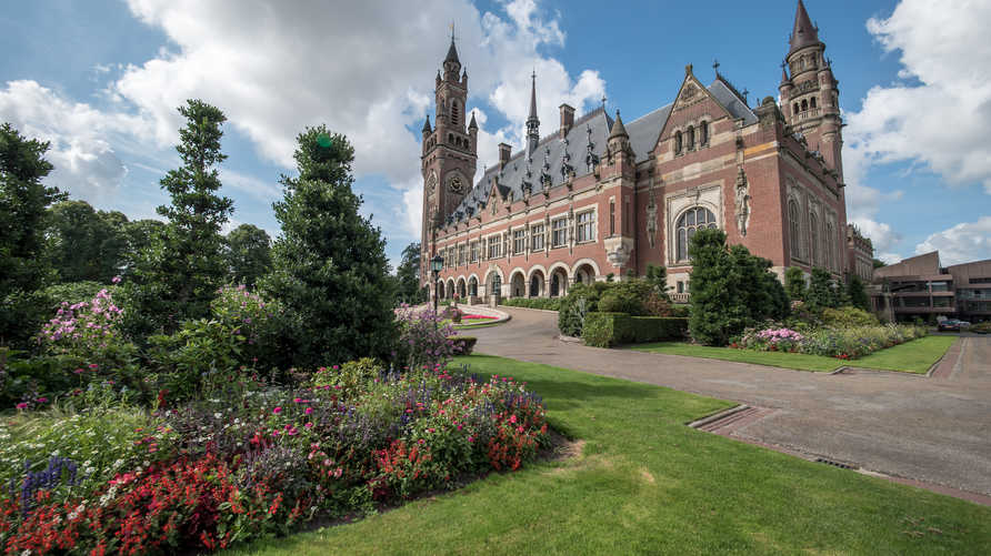 قصر السلام في لاهاي الذي يحتضن محكمة العدل الدولية