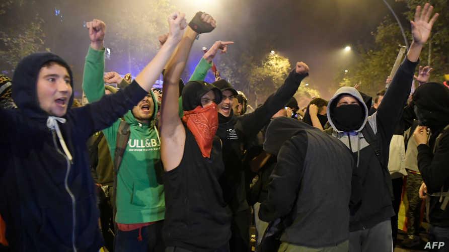 متظاهرون انفصاليون في برشلونة