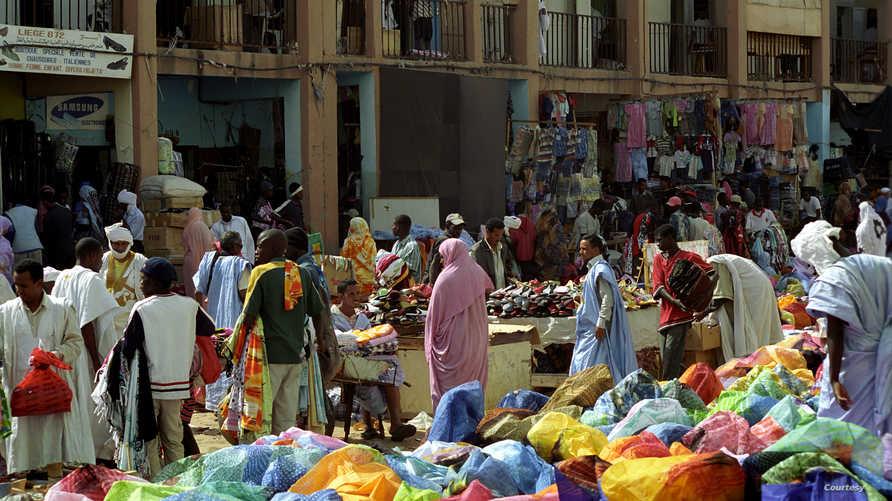 سوق في العاصمة نواكشوط بموريتانيا