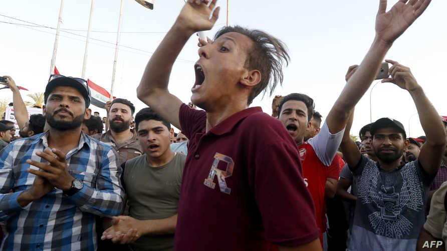 متظاهرون في البصرة. أرشيفية
