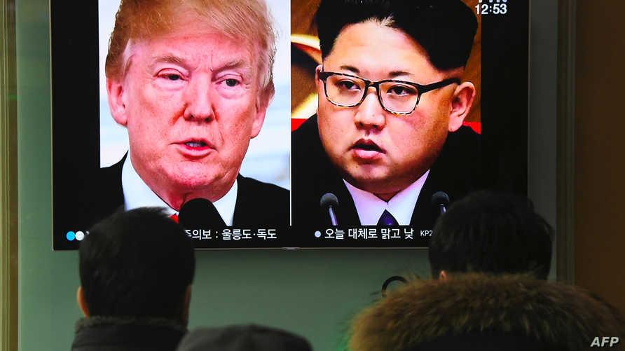 الرئيس ترامب وزعيم الكوري الشمالي كيم جونغ اون
