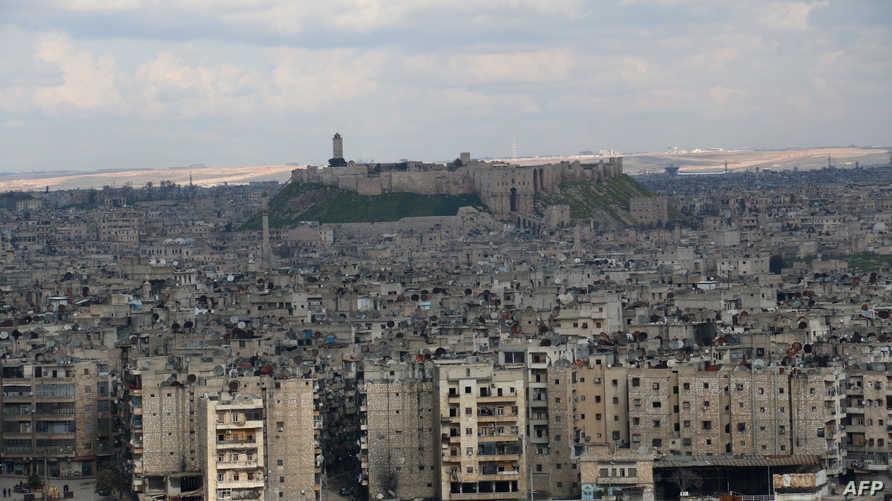 منظر عام لمدينة حلب، أرشيف