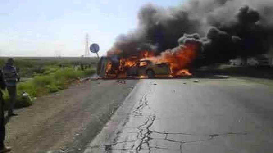 صورة تداولها نشطاء على فيسبوك قالوا إنها لحادث السير