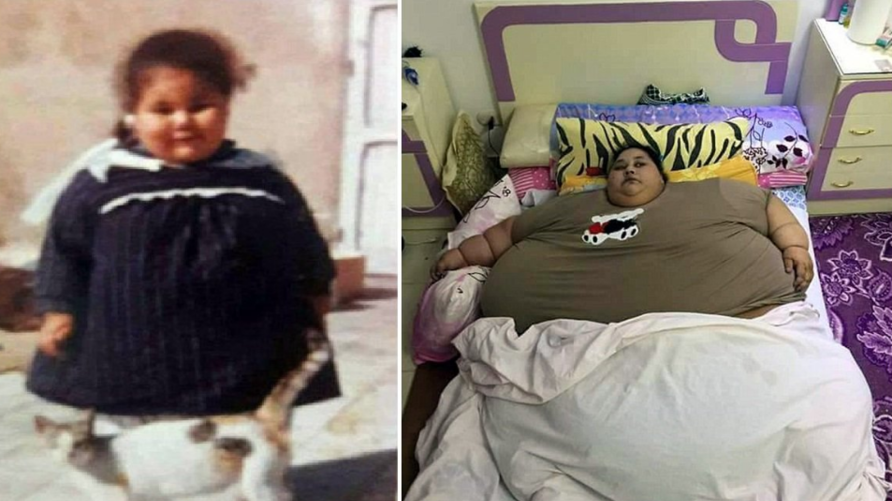 إيمان أحمد عبد العاطي في صورة قديمة من طفولتها وأخرى حديثة - صور تداولها ناشطون على تويتر