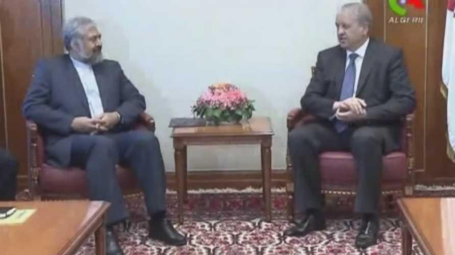 مرتضى سرمدي مع الوزير الأول الجزائري عبد المالك سلال