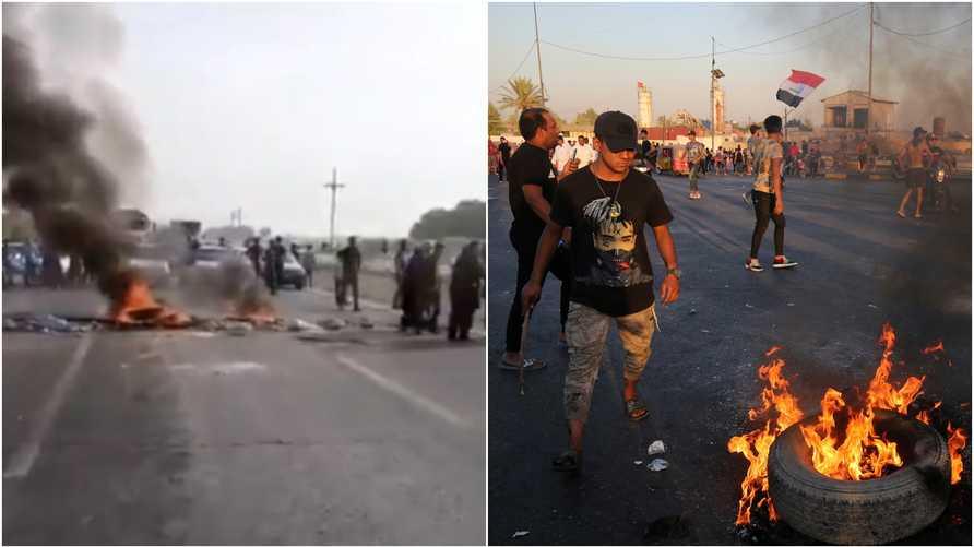 أربع مشاهد مشتركة بين تظاهرات العراق وإيران