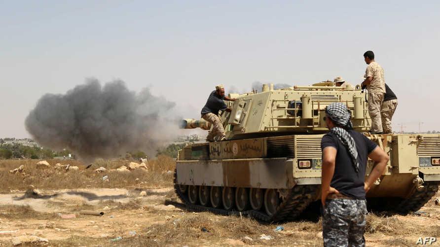 قوات موالية لحكومة الوفاق الليبية في سرت