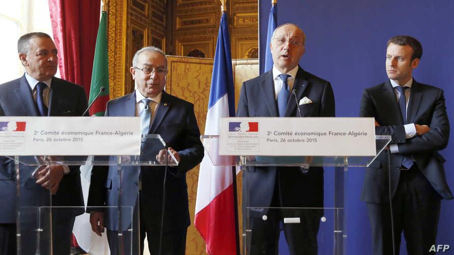 وزير الخارجية الفرنسي رفقة نظيره الجزائري (أرشيف)