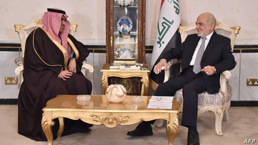 السفير السعودي خلال لقاء مع وزير الخارجية العراقي- أرشيف