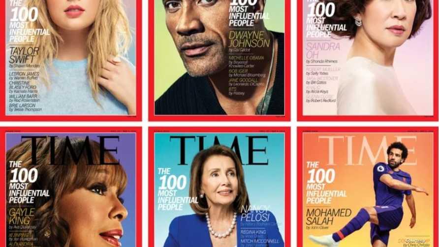 أغلفة مجلة تايم الـ 6 التي تحمل صور أبرز المؤثرين في 2019
