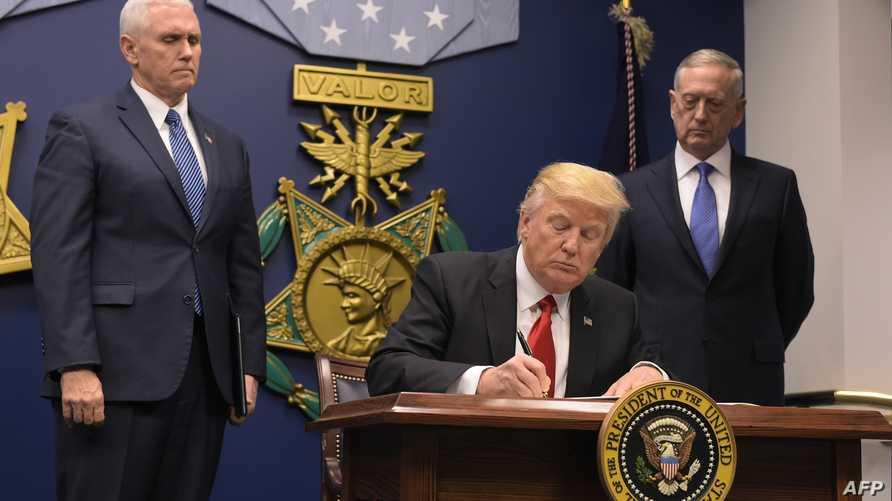 ترامب في مقر وزارة الدفاع