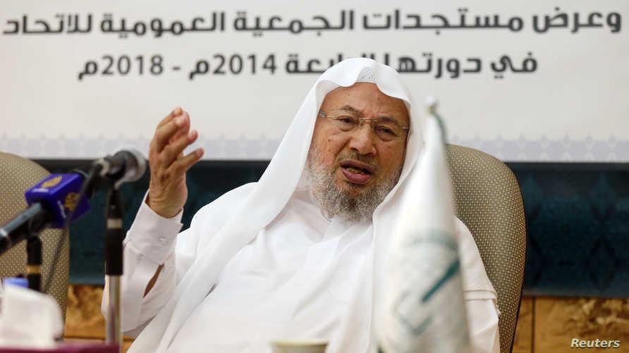 مؤسس الاتحاد العالمي لعلماء المسلمين الشيخ يوسف القرضاوي في العام 2004 ورئيسه حتى عام 2014