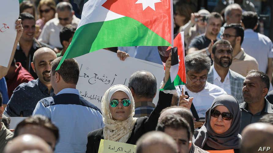 أحد اعتصامات نقابة المعلمين في الأردن