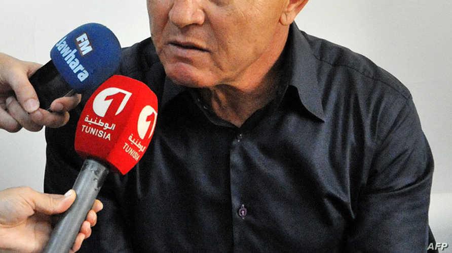 رئيس النجم الرياضي الساحلي والنائب عن حزب نداء تونس الحاكم رضا شرف الدين