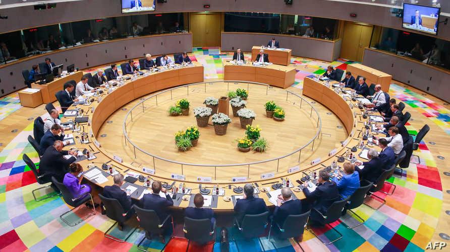 جانب من قمة الاتحاد الأوروبي في بروكسل
