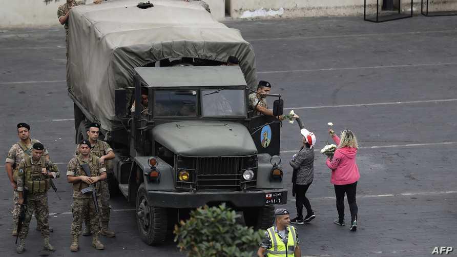 قوة من الجيش اللبناني في بيروت