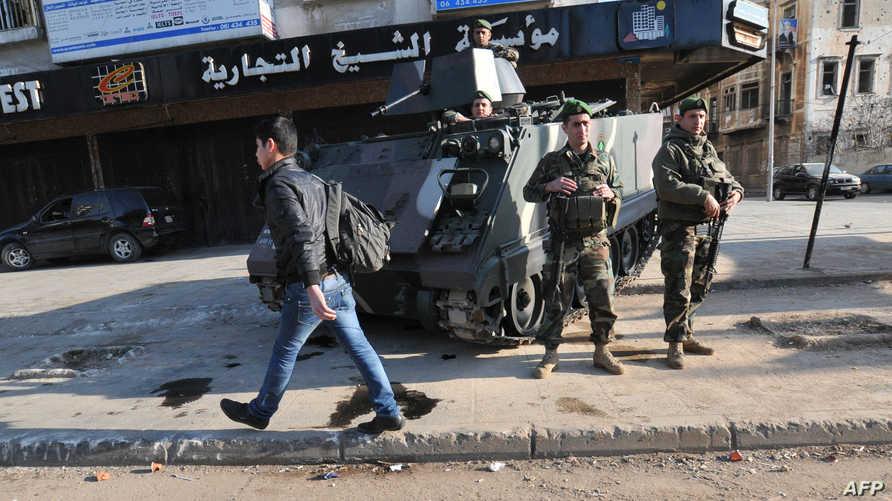 الجيش اللبناني يؤمن مداخل طرابلس بسبب الاشتباكات