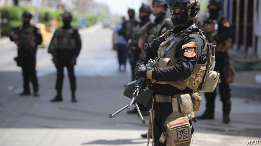 أفراد من مكافحة الإرهاب العراقي في بغداد_أرشيف