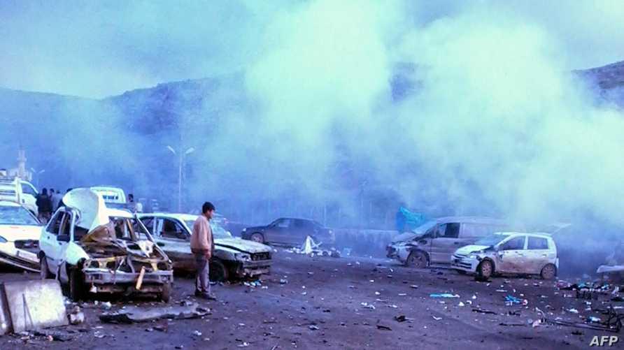 مكان الانفجار في المعبر الحدودي