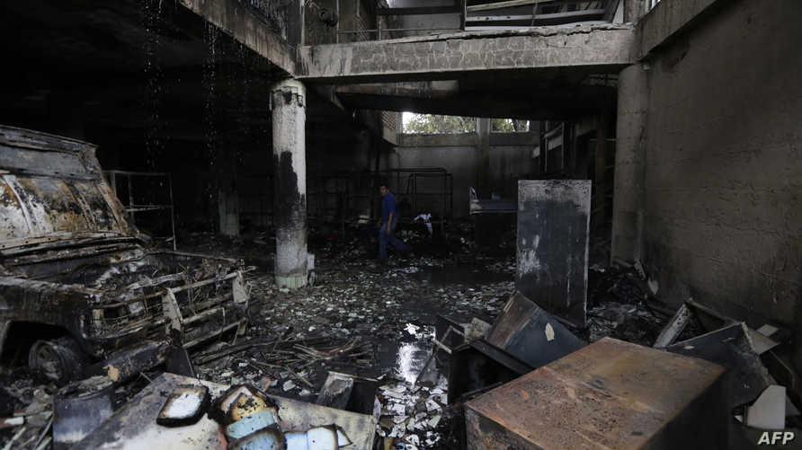منزل احرق بعد إلقاء زجاجات حارقة عليه في ماناغوا