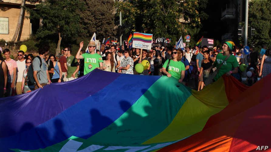جانب من مظاهرة للمثليين في القدس