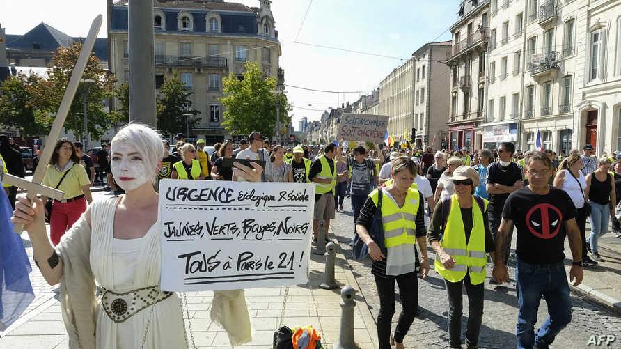 من احتجاجات سابقة لأصحاب السترات الصفراء